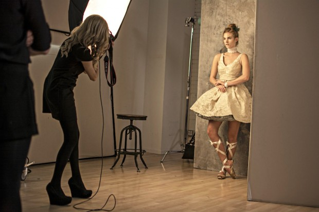 Lara Jade photographs a model during CreativeLive's Create the Incredible. Photo courtesy Eric Krebs.