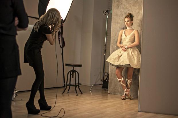 Lara Jade photographs a model during CreativeLive's Create the Incredible. Photo courtesy Eric Krebs.