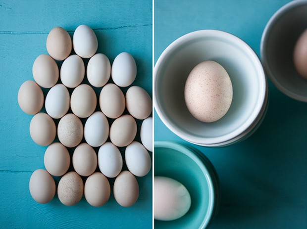 Still life with eggs, as shot by Seattle-based food photographer Hilary McMullen.