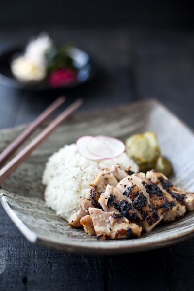 Beautiful shot of wok-fried pork and rice by Seattle-based food photographer Hilary McMullen.