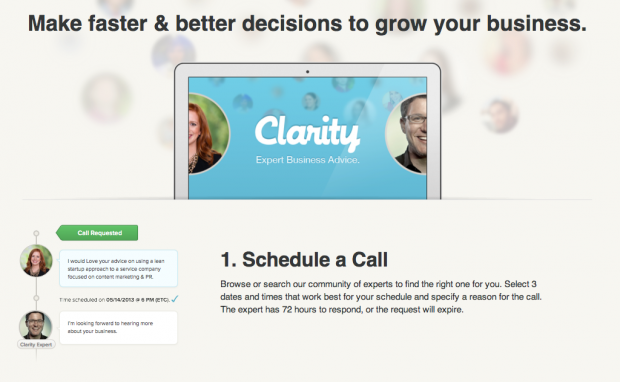 """Clarity's """"How It Works"""" page  effectively conveys the benefits to the consumer."""