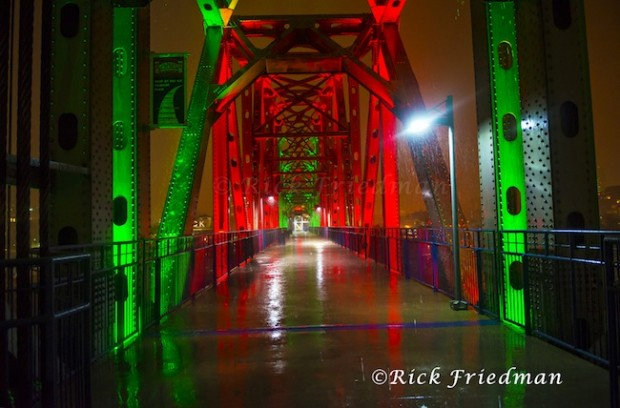 Little Rock bridge lighting