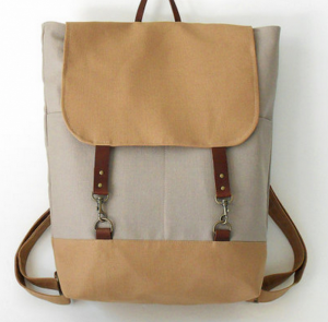 Canvas backpack by BagyBags.