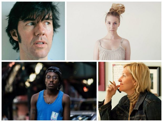 Clockwise from top left: Sagmeister, Brooke Shaden, Brene Brown, and Dev Hynes.