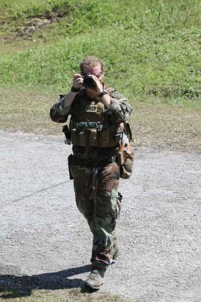 U.S. Naval Officer Daniel Dopler in action —and uniform! Photo courtesy Daniel Dopler.