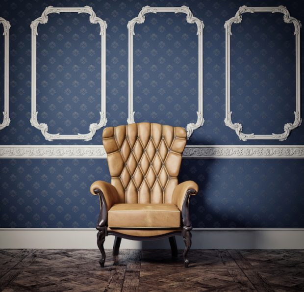 Interior Design: Indigo Blue Walls