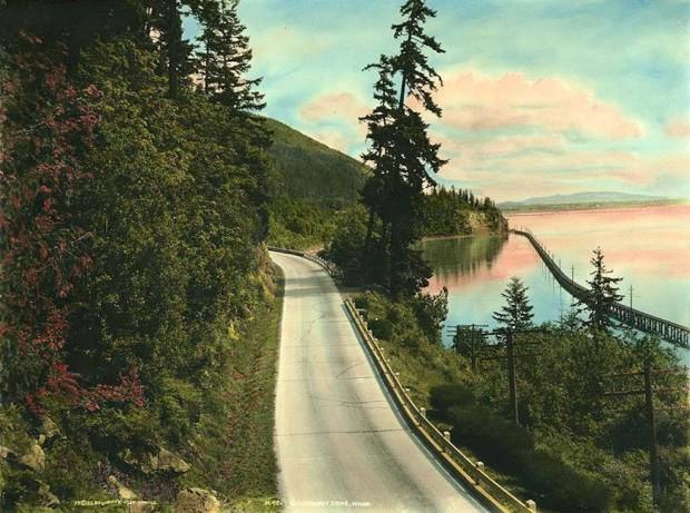 Photo of Chuckanut Drive courtesy University of Washington Digital Images.