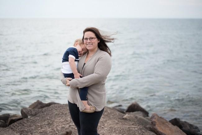 Jennifer Togal Holds Daughter