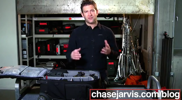 chase jarvis gear pack video