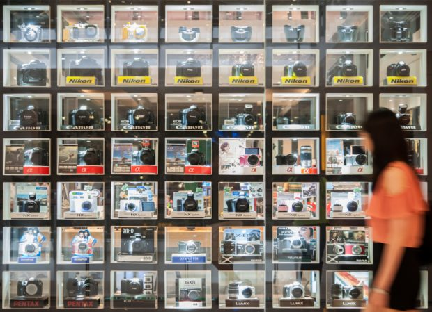 Shelf of digital camera as of the year 2013