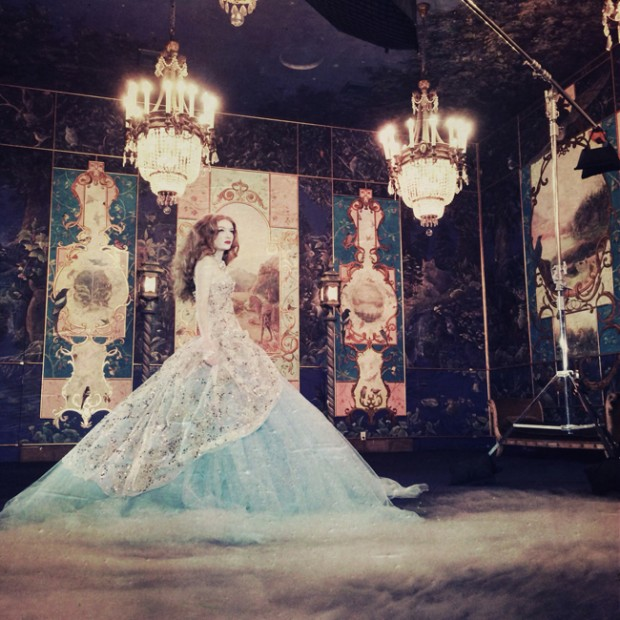 behind the scenes of Miss Aniela's course