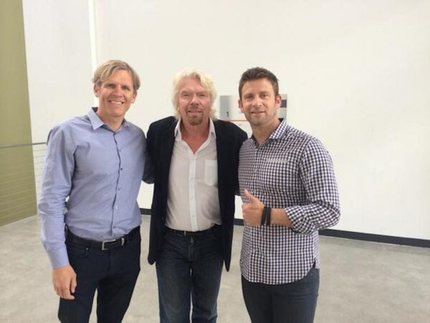 Left to right: CreativeLive CEO Mika Salmi, Sir Richard Branson, CreativeLive Co-Founder Chase Jarvis.