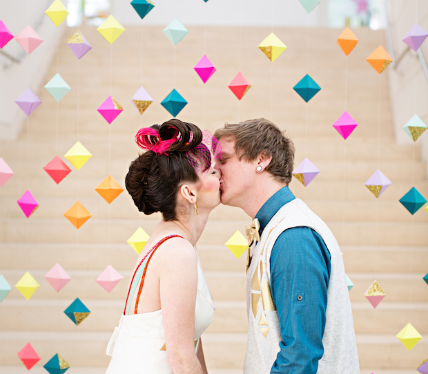 Inspiration for awesome photo backdrops from CreativeLive! http://blog.creativelive.com/wedding-photographers-diy-photo-booth/