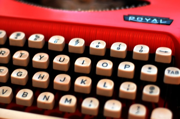 Photo of typewriter keys by Cody Geary.