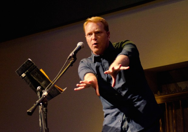 Kevin Allison in action — photo by Jason Spiro.