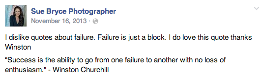 Sue Bryce on Failure