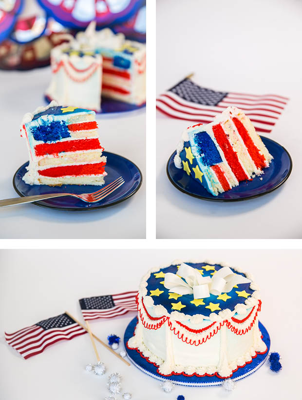 4th of July DIY: Red, White, and Blue Cake Recipe
