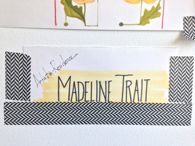 madeline trait artist in residence