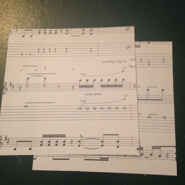repurpose sheet music