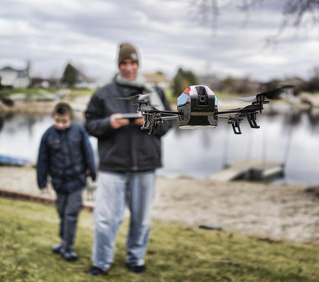 dronie drone selfie