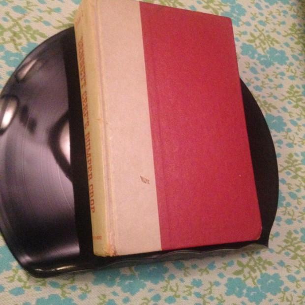 vinyl bookend