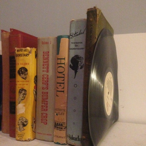 DIY vinyl bookend