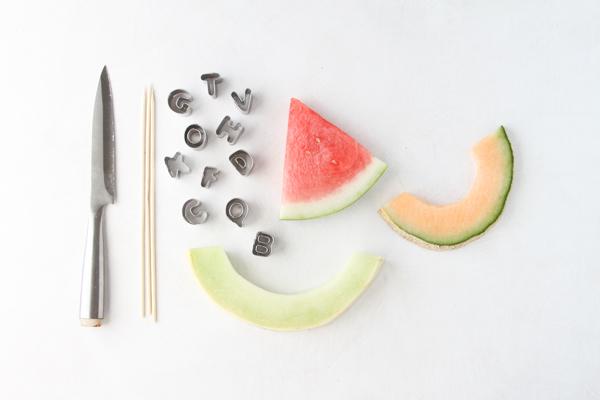 fruit kabob supplies