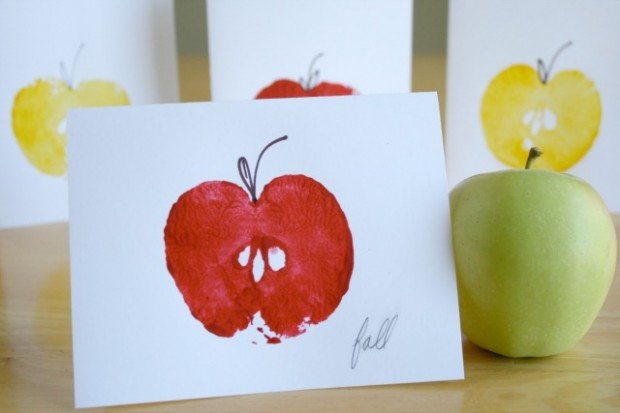 DIY apple stamps
