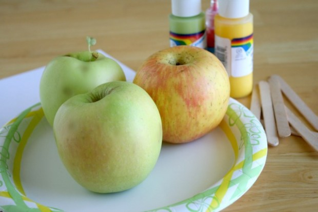 diy apple stamps