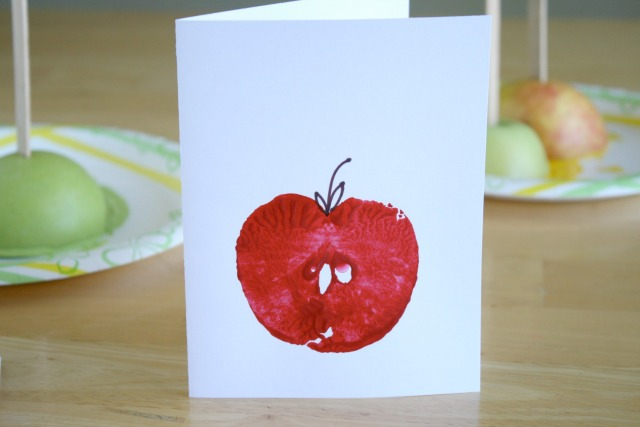 Diy apple stamps for fall themed giftcards apple stamping cards m4hsunfo