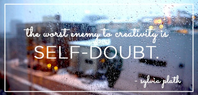 sylvia plath self-doubt