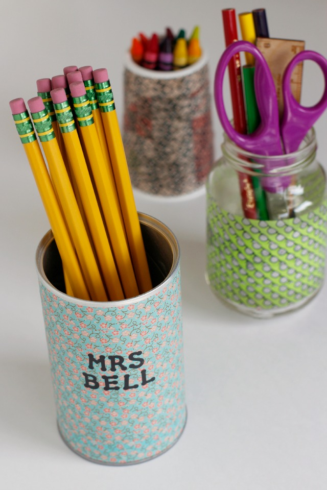 Washi Tape Idea: DIY Pencil Holders for Back-to-School