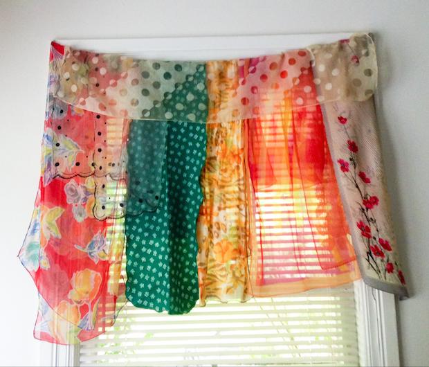 ways to recycle vintage scarves