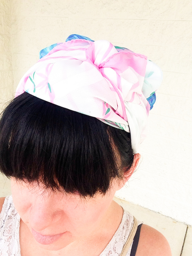 scarf turban wrapping