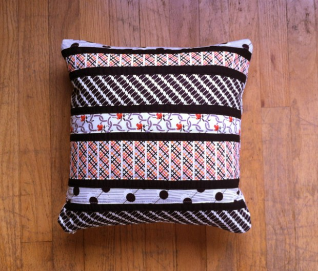 Patchwork Striped Pillow 1