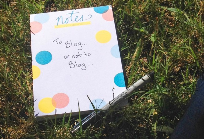 start blogging more
