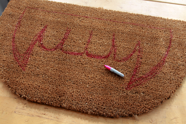 DIY Halloween Project: Make a Spooky Welcome Mat