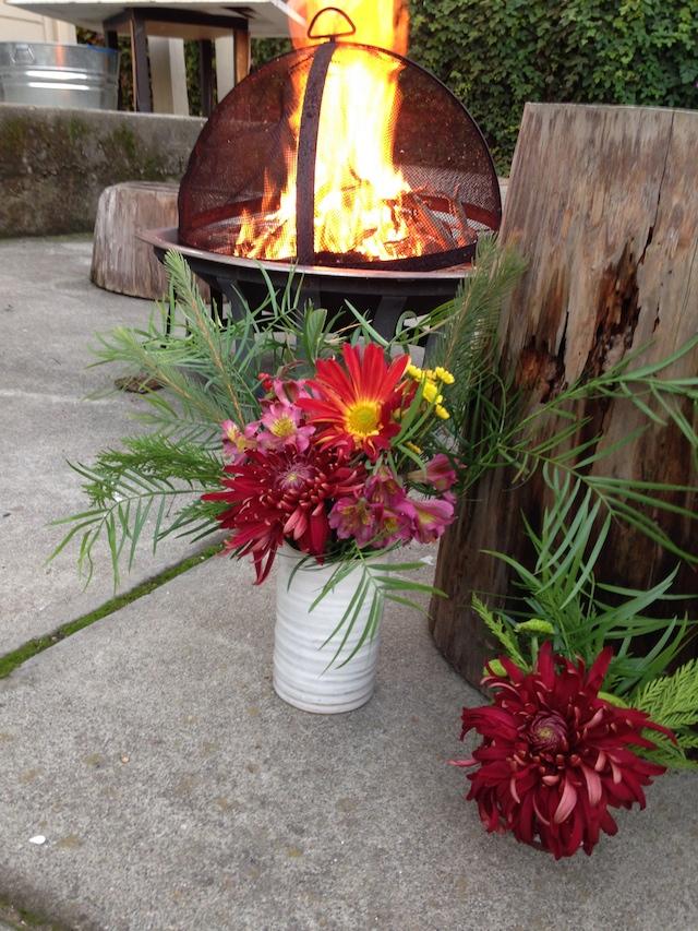 Final DIY flower arrangement