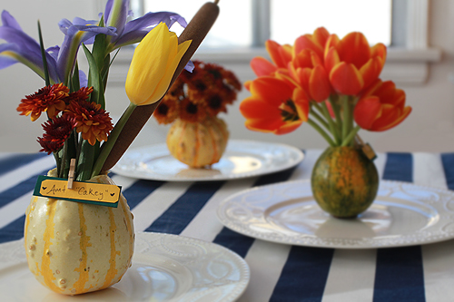 Thanksgiving Craft Idea Gourd Place Cards