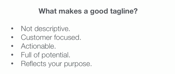 how to make a tagline for your business
