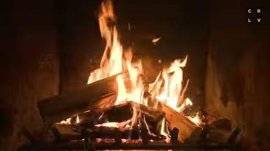 yule log video