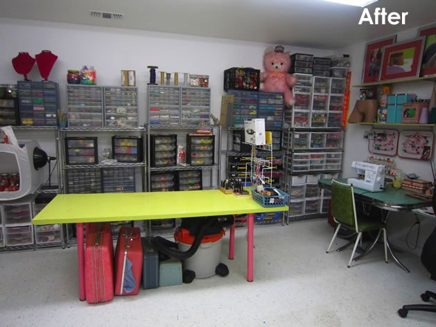 workbench ideas for small garage - 14 Ideas To Help You Organize Your Craft Room