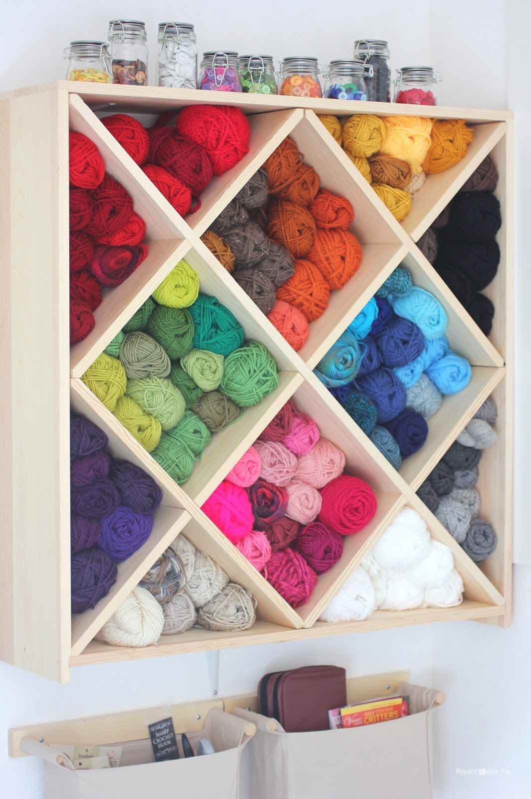 14 ideas to help you organize your craft room for Craft paper storage ideas