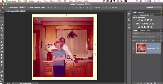 color cast how to fix old photos in photoshop