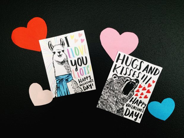 Download these cute and clever printable Valentine's cards from the CreativeLive blog!
