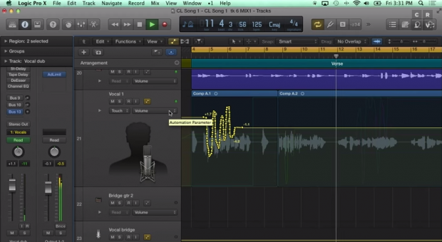 how to polish your mix with automation in logic pro x. Black Bedroom Furniture Sets. Home Design Ideas