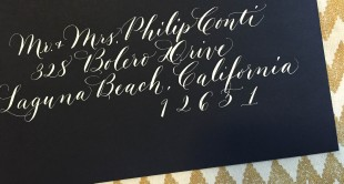 calligraphy for invitations