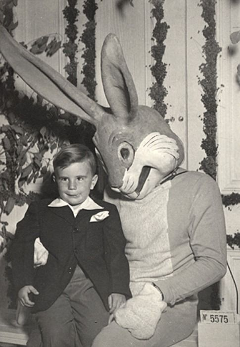 Vintage Easter Photos Creepy Bunny