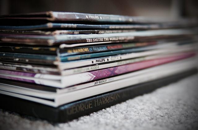 pile of vinyl