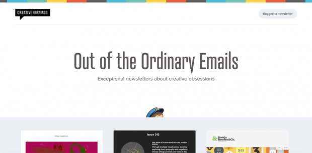 Creative Mornings MailChimp Email Newsletter Inspiration
